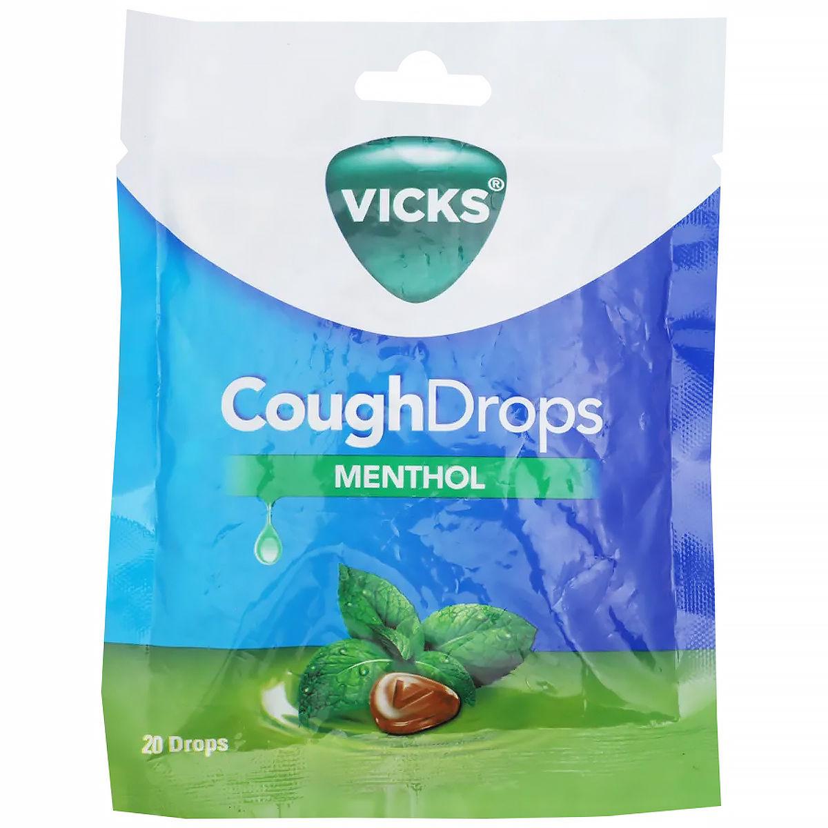 Vicks Menthol Cough Drops, 20 Count, Pack of 1