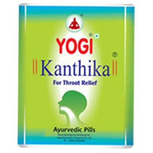 Yogi Kanthika Throat Relief Ayurvedic Pills, 70 Capsules, Pack of 1